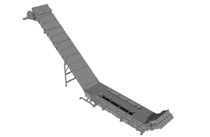 Trough chain conveyors